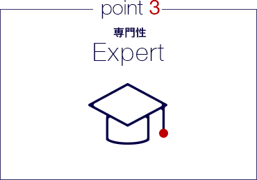 point3 専門性 Expert