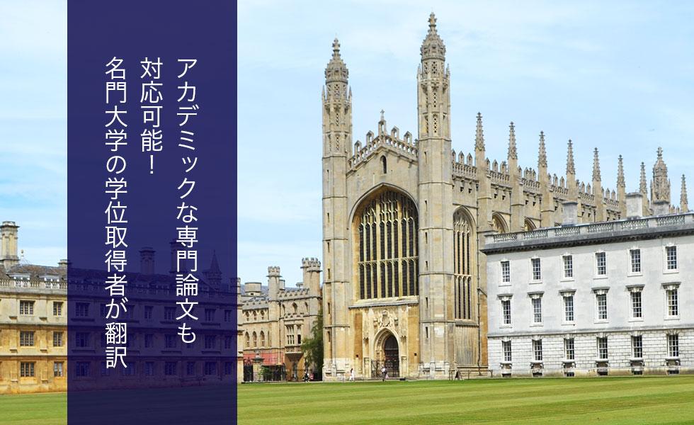 アカデミックな専門論文も対応可能!名門大学の学位取得者が翻訳